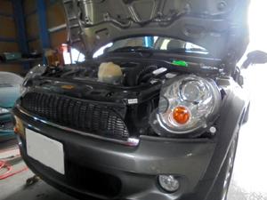 BMWミニ オイル交換&フィルター交換