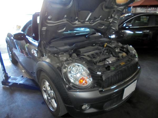BMWミニ エンジンオイル交換