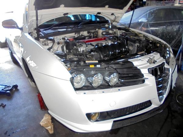 アルファロメオ159 エンジンオイル交換&オイルプレッシャースイッチ交換