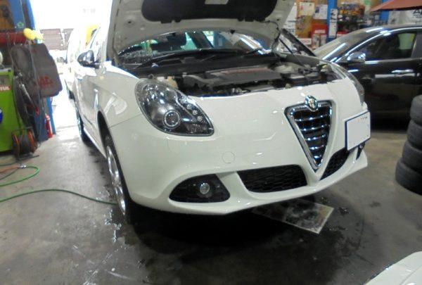 アルファロメオ ジュリエッタ 車検整備&ドラレコ取付