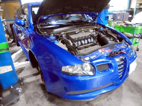 アルファロメオ147 GTA タイミングベルト交換