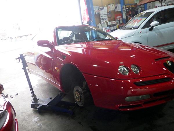 アルファロメオ GTV タイミングベルト交換&ウォーターポンプ交換