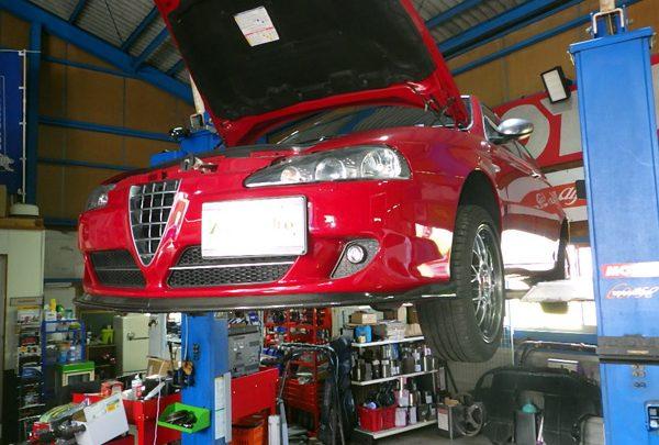 アルファロメオ147 車検整備&タイミングベルト交換