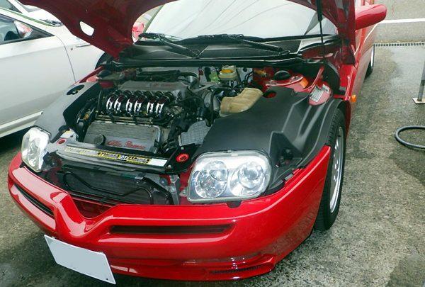 アルファロメオ GTV ディストリビューターキャップ&ローター交換