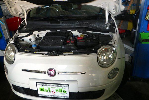 フィアット500 エアコン修理
