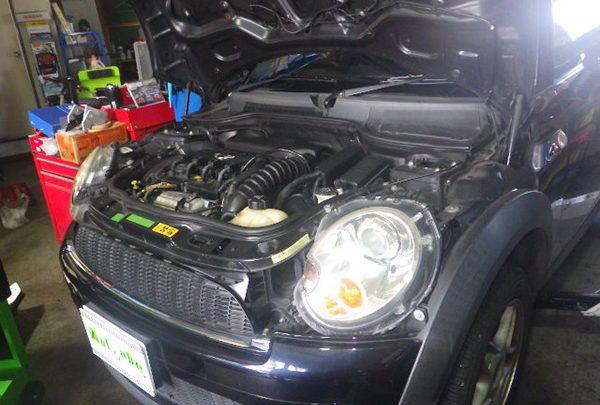 BMWミニ オイル漏れ