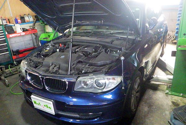 BMW116i 車検整備&オイル漏れ修理