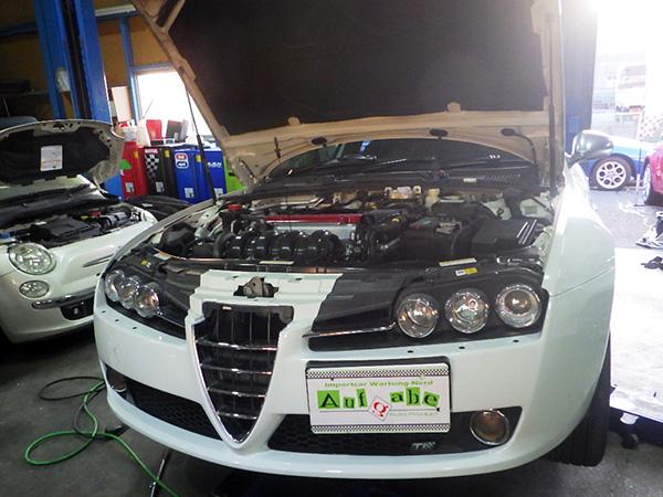 アルファロメオ159 エンジンオイル交換&セレオイル交換など